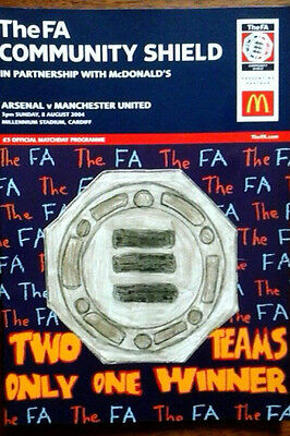 Arsenal V Man Utd 8/8/2004 Charity Shield