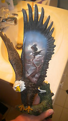 Bradford Exchange EAGLE FIGURINE Hangs on Wall Majesty's Monarch by Ted Blaylock