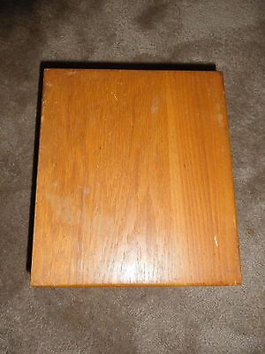 Large Oak box, hinged lid, felted bottom, dovetail joints