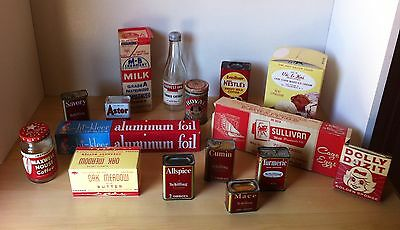 Lot of 16 1940's 50's Vintage Grocery Store Retro Red Advertising Items! Retro