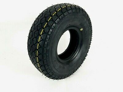 1x 4.00-5 (330x100)Black Block Tread Mobility Scooter Tyre Diamond pattern 50PSI