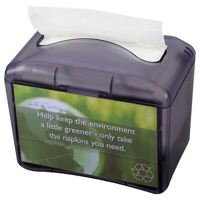 San Jamar H4004TBK Venue Tabletop Mini Interfold Napkin Dispenser