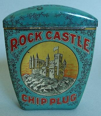 "Very Htf ""rock Castle"" Vp Advertising Tobacco Tin Fantastic Near Perfect"