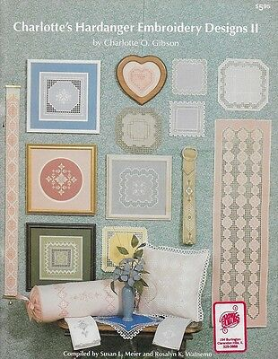 CHARLOTTE'S HARDANGER EMBROIDERY DESIGNS II by Charlotte O Gibson Leaflet