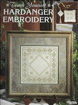 TEACH YOURSELF HARDANGER EMBROIDERY... REVISED EDITION Leisure Arts  Leaflet