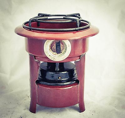 Dutch Enamelware Stove Kerosene fuel burner wick Petrol Enamel Brown