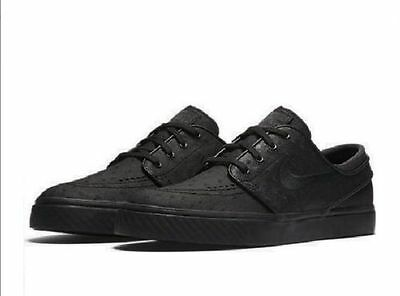 d7eb0540351 New Nike SB Zoom Stefan Janoski Leather Men Skateboarding Shoes Black  616490 007