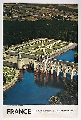 Vintage Midcentury Original French Travel Poster Loire