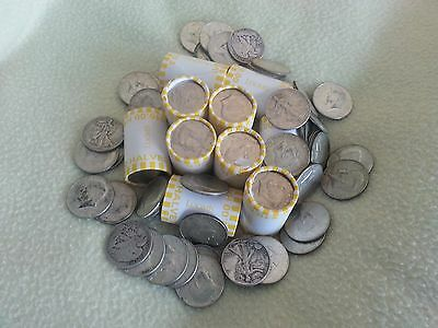 ! Unsearched! 10 Roll Lot! Half Dollar Rolls !Possible! Silver 40% 90% Kennedy