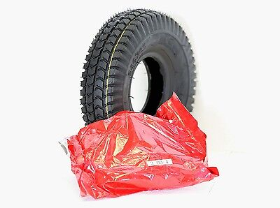 1x 3.00-4 (260x85) Black Block Tread Mobility Scooter Tyre & Tube