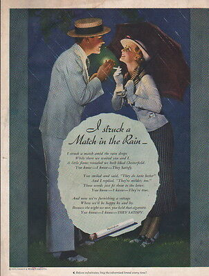 1935 Chesterfield Cigarettes ad --What a great picture-11