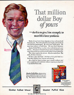 1924 Quaker cereal ad by Norman Rockwell-[-182