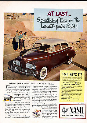 1941 Nash car ad With weather eye heating system -[-159