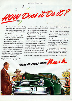 """1946 Nash """"600"""" car ad Amazing Advancements in the low priced field -[-164"""