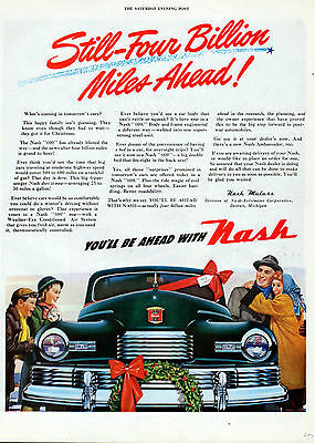"""1947 Nash """"600"""" car ad So comfortable you can drive in winter w/o Gloves-[-167"""