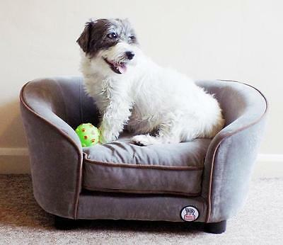 Millies Grey Pet Sofa Bed Dog Cat Puppy Couch Soft Cushion Chair Seat Lounger