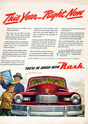 """1946 Nash """"00""""-car ad -Car of the future is here Now -[-163"""