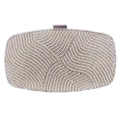 Damara Womens Prom Party Beads & Crystal Cover Evening Bag,Gold