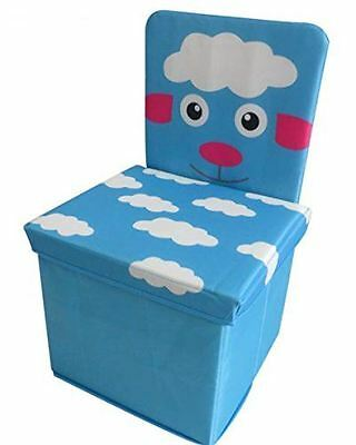 Kids Chair, Toys Storage Organizer Foldable Box With Lid, Stool, Sheep Design