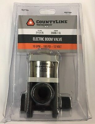 CountyLine Solenoid Electric Boom Valve - 12V 2.0 Amp - 2500B-1 CL *NEW*