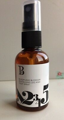 BLOOM and BLOSSOM REVITALISING LEG and FOOT SPRAY Prevents Fluid Retention 50ml