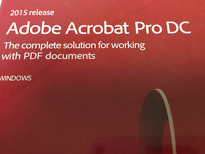 Adobe Acrobat Pro DC FOR WINDOWS DVD and Serial key by post.