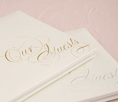 Pure Elegance Wedding Guest Book With Blank Pages Silver