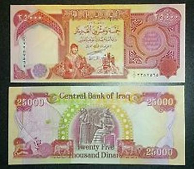 Authentic Iraqi Dinar 25,000 Currency