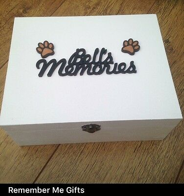 Dogs Personalised Wooden Keepsake / Memory Box, Urn?