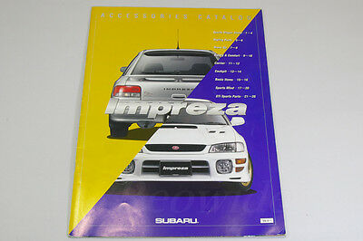 SUBARU IMPREZA WRX STi  Version 6 Accessories Japanese Brochure 1999 GC8 GF8
