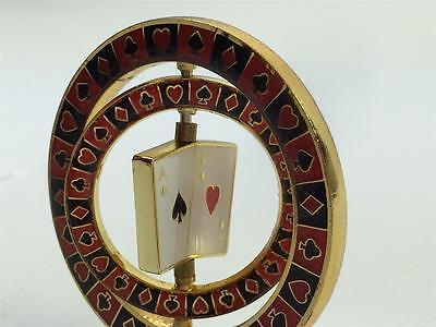 Triple Aces Spinner Suited Card Guard Poker Hand Protector Metal NEW