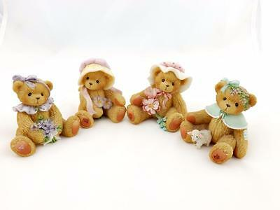 Cherished Teddies Heather, Violet, Magnolia and Pansy (Perfect)