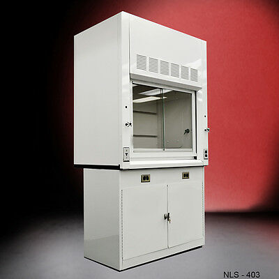 4' Laboratory Fume Hood WITH Epoxy Top and Cabinet NEW
