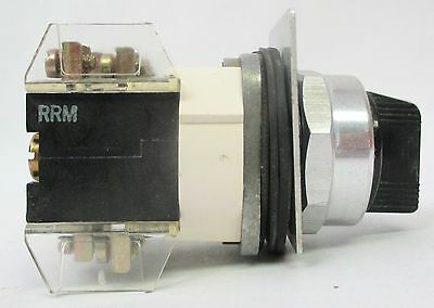 Allen Bradley 800T-J2Kc1 3 Position Selector Switch - With 2 Contact Blocks