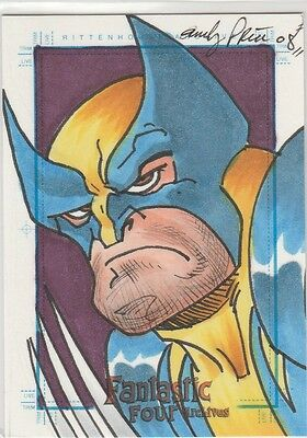 2008 Fantastic Four Archives WOLVERINE sketch by Andy Price