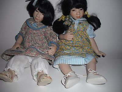 Ganz Cottage Collectible Doll Pam Hamel ( Set of two)
