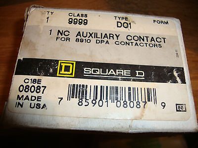 New Square D 9999 Do1 1 Nc Auxiliary Contact