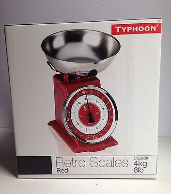 BRAND NEW Typhoon Retro Look Kitchen Scale - Red