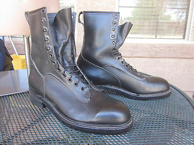 1976 VTG Addison Shoe Company Men's sz 12 Safety Toe Military Work Boots, Unworn