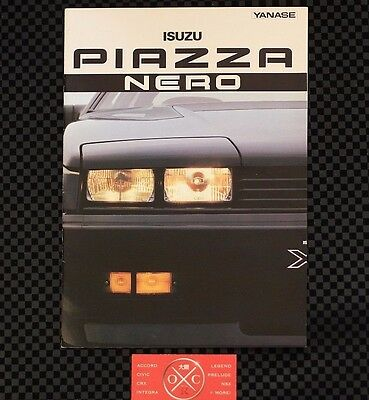 Rare JDM Isuzu Piazza Nero Brochure Catalog Impulse First Gen 89 88 87 90 Rare