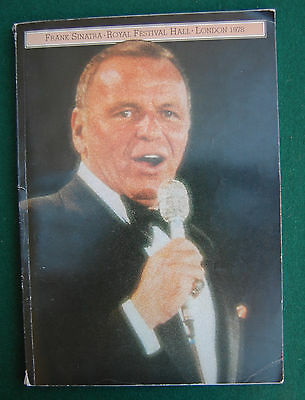 Frank Sinatra Concert Programme/Souvenir Brochure -Royal Albert Hall London 1979