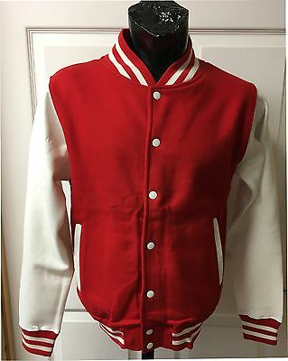 Red/white Varsity Jacket  - Brand New - Stock Clearance B5  - Small