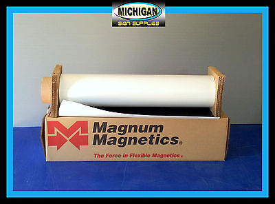"White Matte .030 x 24"" x 25 Feet Magnum Magnetic Sign Blanks~Great for Vehicles~"