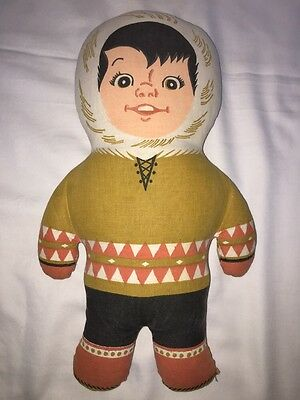 "Vintage Eskimo Pie Kids 15"" Plush Advertising Premium Stuffed Toy"