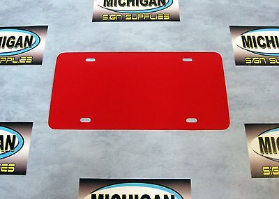 Red .050 Plastic License Plate Blank **Create Your Own Designs**