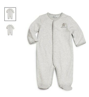 Ralph Lauren Baby Boys Babygrow Coverall grey  teddy label newborn 0-3 m 3-6 m