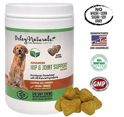 Deley Naturals, Advanced Arthritis Pain Relief for Dogs, Hip and Joint Support