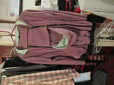 Hooded, Fleece Baby Carrier Jacket for MOM and BABY-EUC
