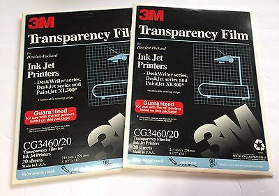 3M Transparency Film CG3460 for Inkjet Printers 38 Sheets