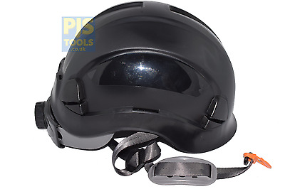 Black climbing hard hat safety helmet height rescue abseiling petzl style